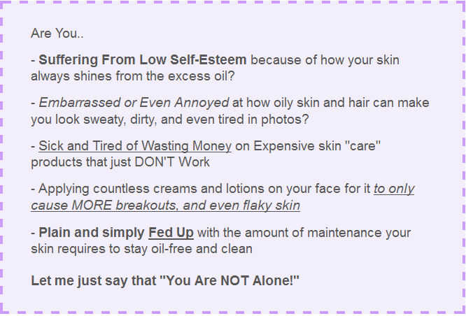 Oily Skin Solution Snippet